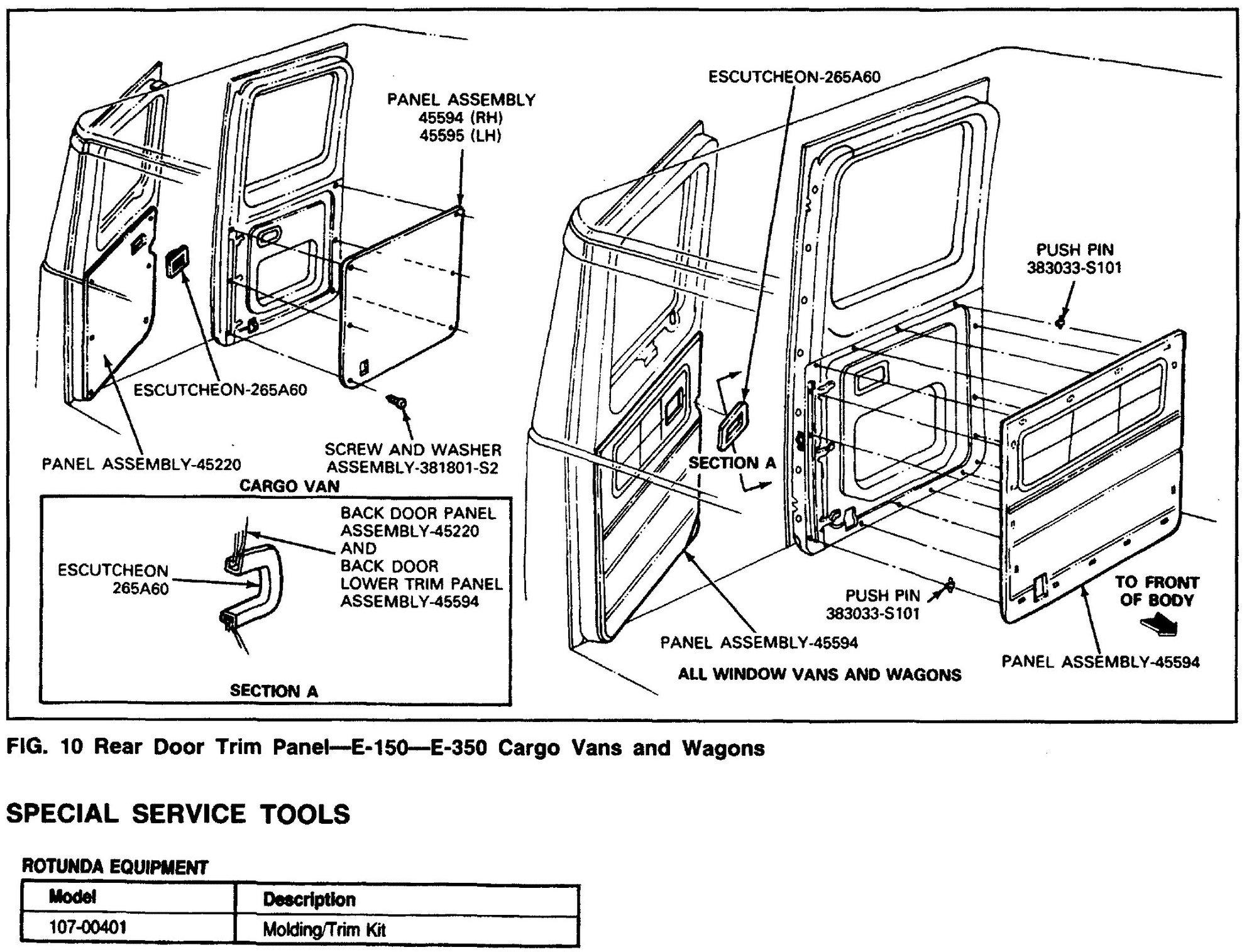How to remove passenger door panel from 1988 e150 van