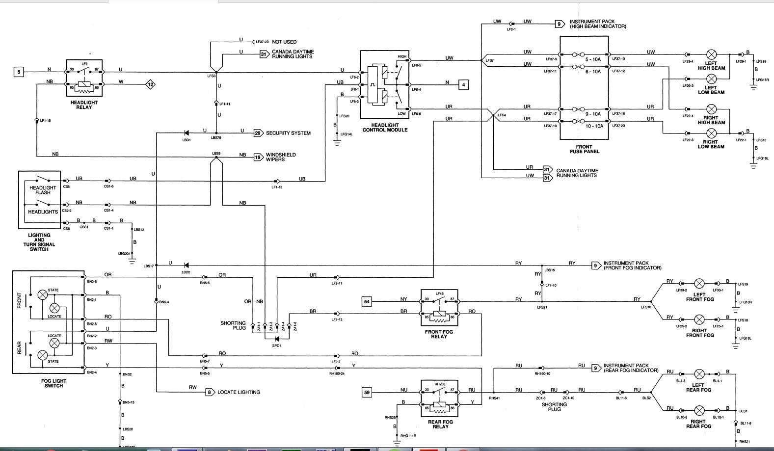hight resolution of fog light relay