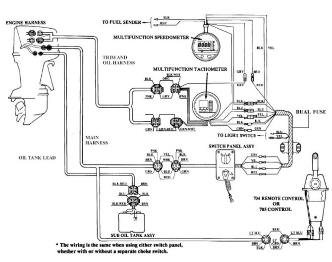 yamaha outboard tachometer wiring diagram toyota engine