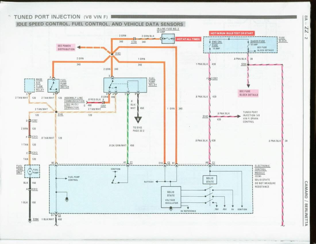 wiring diagram for fuel pump relay utp camaro tpi maf power harness connector