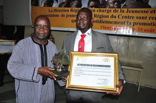 Promotion de la jeunesse : les mérites de Inoussa Kanazoé reconnus