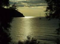 Toscana - Il sole cala su Baratti (Livorno)
