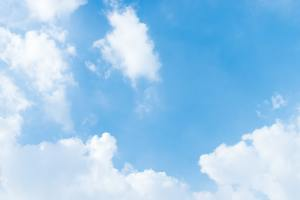 clear clean fresh blue color sky with fluffy soft white cloud