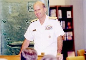 VADM Ryan at Nimitz Library at the Naval Academy.