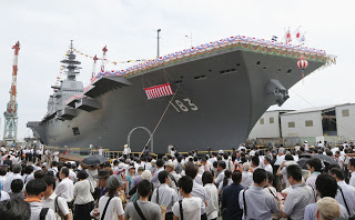 Japan Unveils Izumo Class Helicopter Destroyer (Light Aircraft Carrier)Japan Maritime Self-Defense Force ah-64 sh-60 (1)