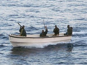 Members of the Digil Coast Guard on patrol