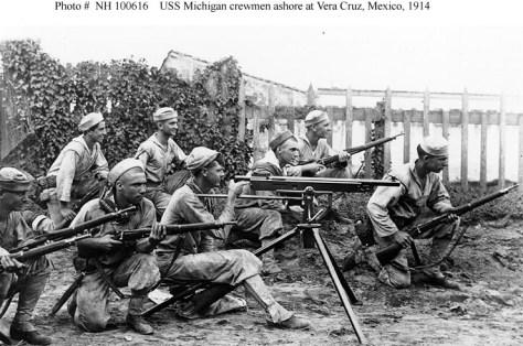 Sailors Ashore at Veracruz, 1914 (Naval History and Heritage Command)