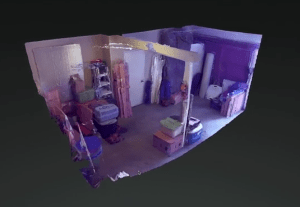 Tango and Cache: 3D rendering of a room captured by Google's Project Tango
