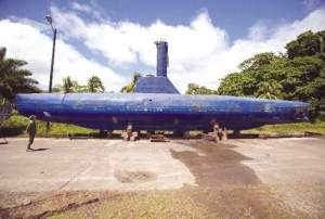 Colombian authorities discovered this fully functional narco-submarine in 2011. The vessel could carry 8 tons of cocaine and has a range of 8,000 miles. The submarine is similar to the Colombian Navy's own tactical sub, except this one has an interior bathroom and larger beds, sailors said. (Juan Manuel Barrero Bueno/Miami Herald/MCT)