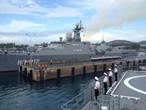 One of Vietnam's two Gerard Class Frigates. Two more will be delivered later this year.