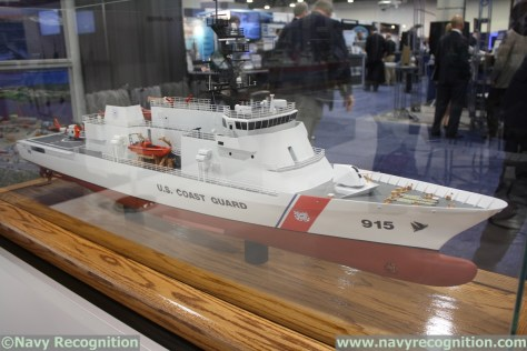 One of three contending designs for the Offshore Patrol Cutter