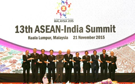 The Prime Minister, Shri Narendra Modi with other leaders in the family photo during the 13th ASEAN-India Summit, in Kuala Lampur, Malaysia on November 21, 2015.