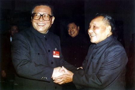 Deng Xiaoping e Jiang Zemin