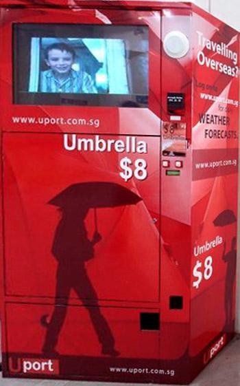 Venditore automatico di ombrelli