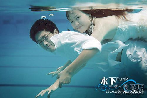 Sposi sott'acqua