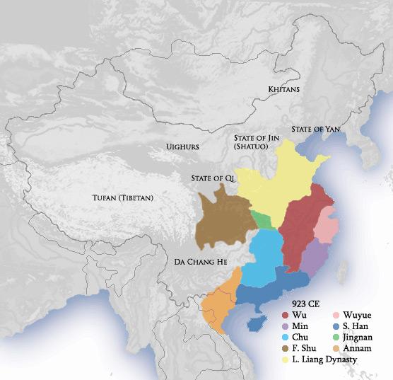 cinque dinastie mappa