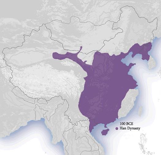 dinastia han mappa