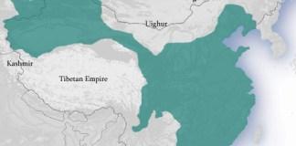 La dinastia Tang cartina