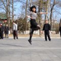 Floating girl in Beijing