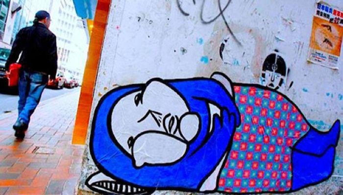 graffiti a Hong Kong