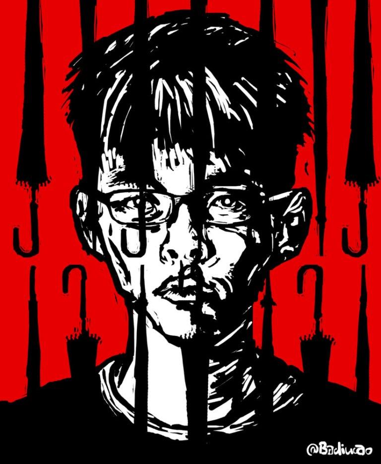 The-prisoner-of-umbrella-joshua-Huang-雨伞囚犯-joshua wong arresto