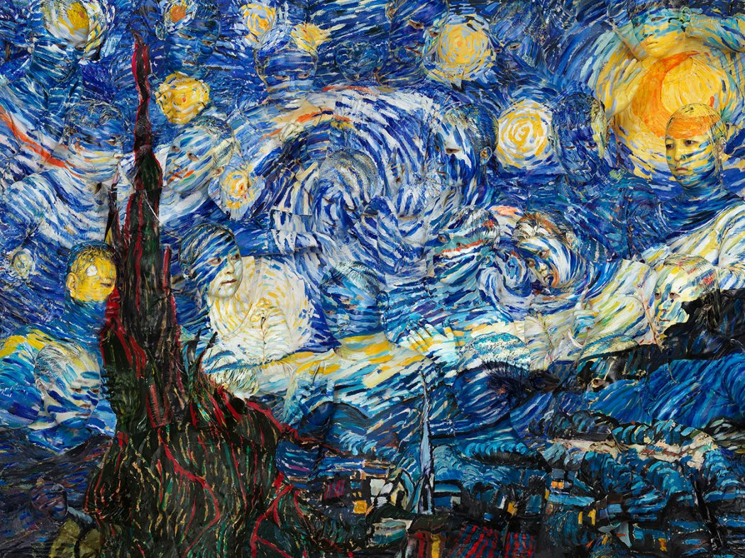 Starry Night (Photographs /2015), © Liu Bolin