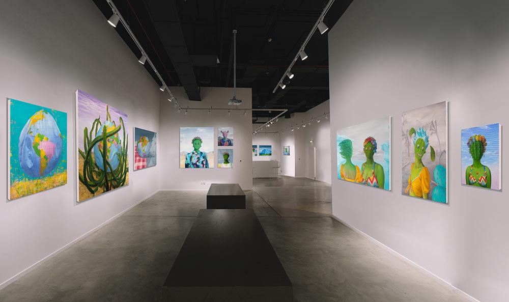 Solo exhibition installation shot