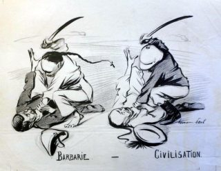 Barbarie — Civilisation, René Georges Hermann-Paul, 1899