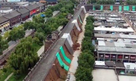 Le forti piogge in Cina hanno danneggiato numerosi siti storici nello Shanxi tra cui Pingyao