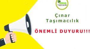 osmaniye cinar tasimacilik duyuru
