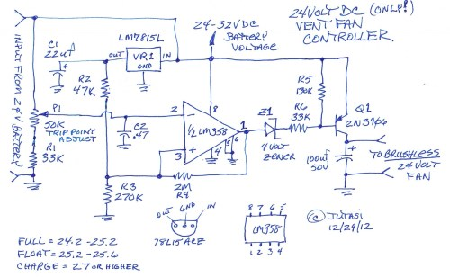 small resolution of 24 volt battery box vent fan control circuit