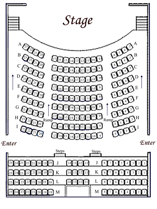 Seating Chart  Incline