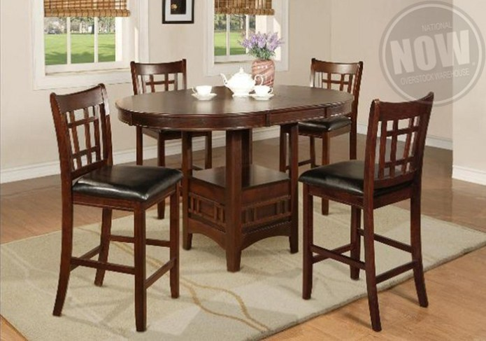 Hartwell Counter Height Dining Table And 6 Side Chairs Cincinnati Overstock Warehouse