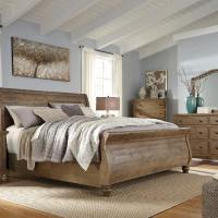 Trishley King Sleigh Bed Set