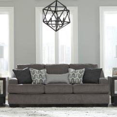 American Furniture Warehouse Living Room Rugs Mixing Leather And Fabric In Gilmer Gunmetal Queen Sofa Sleeper