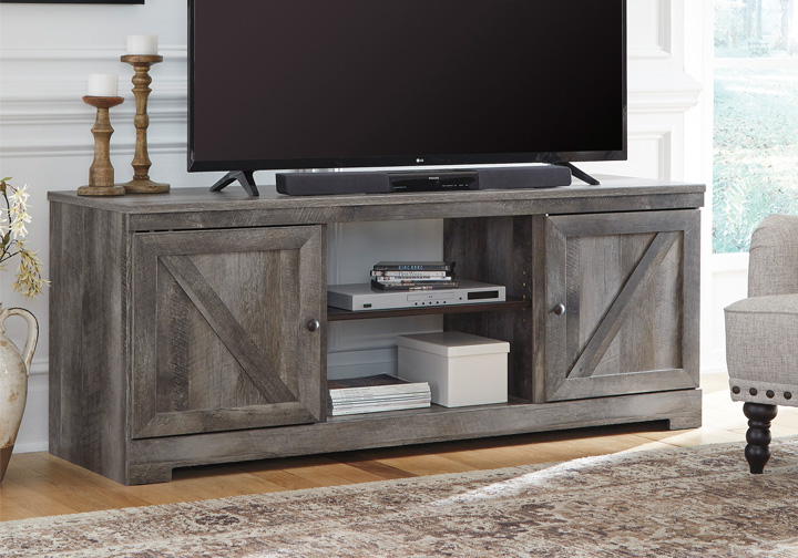 Wynnlow Gray Tv Stand Cincinnati Overstock Warehouse