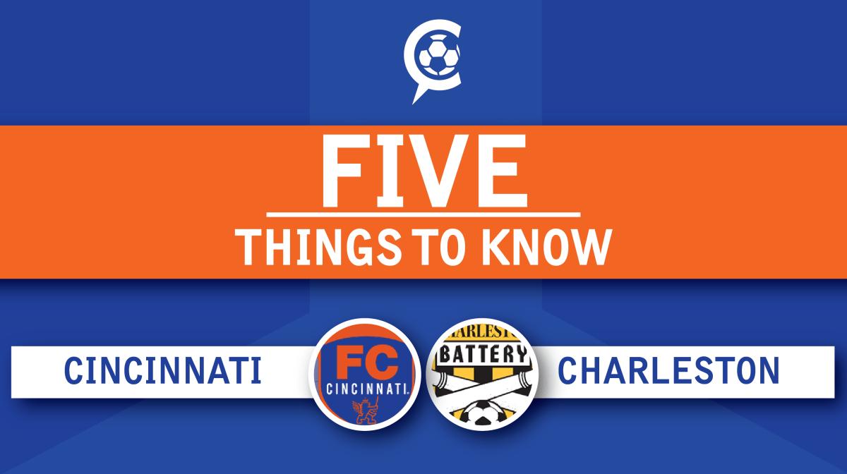 FC Cincinnati at Charleston Battery: 5 Things to Know