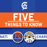 FC Cincinnati at Charleston Battery: 5 Things to Know