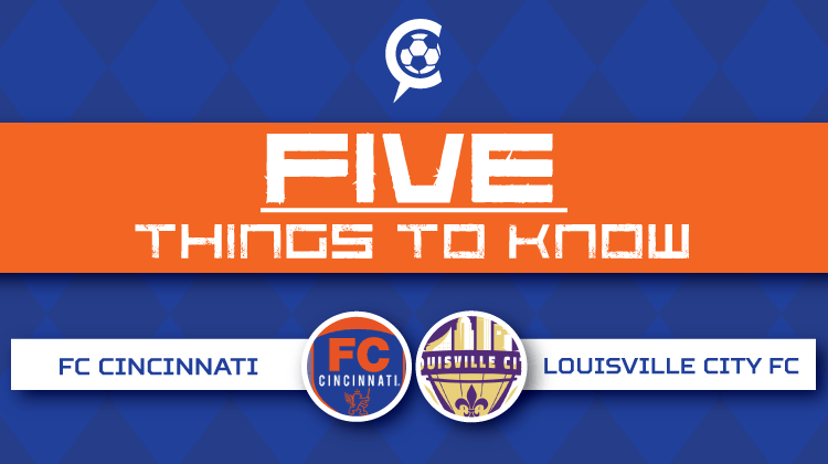 FC Cincinnati vs Louisville City FC - Part Two: 5 Things to Know