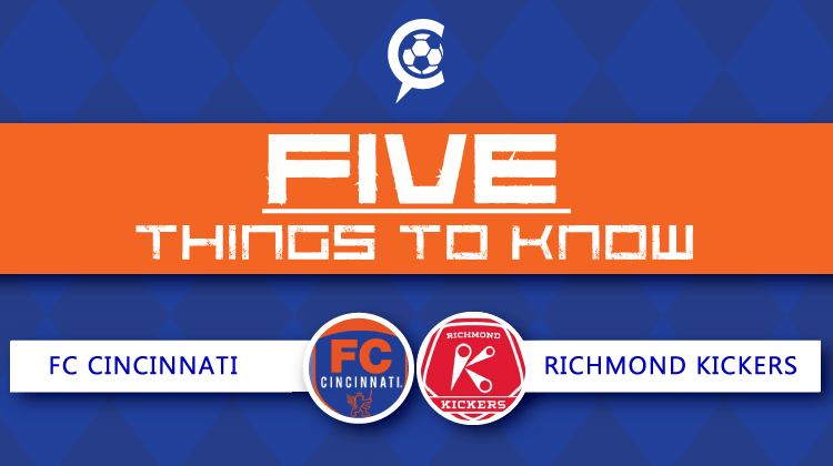 FC Cincinnati vs Richmond Kickers: 5 Things to Know