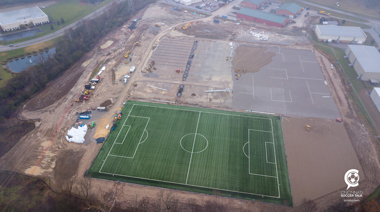 Progress Being Made at new Mercy Health FC Cincinnati Training Center