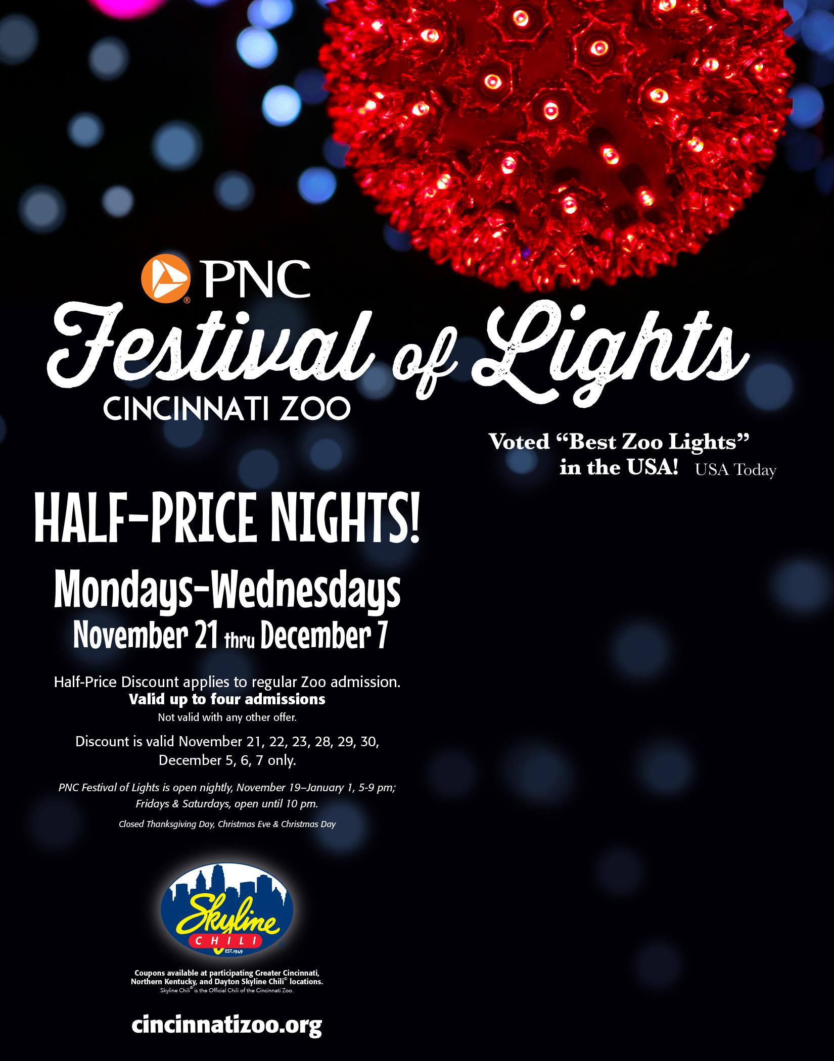 Cincinnati Zoo Festival Lights Coupons