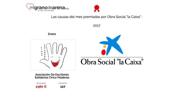 Cinco Palabras premiada en enero por la Obra Social 'La Caixa'