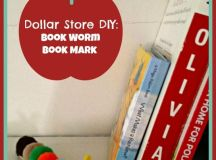 Dollar Store DIY Craft Bookworm Bookmark - CincyShopper