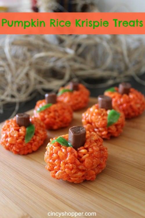 pumpkin rice krispie treats recipe cincyper