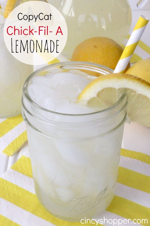 CopyCat Chick-Fil- A Lemonade Recipe