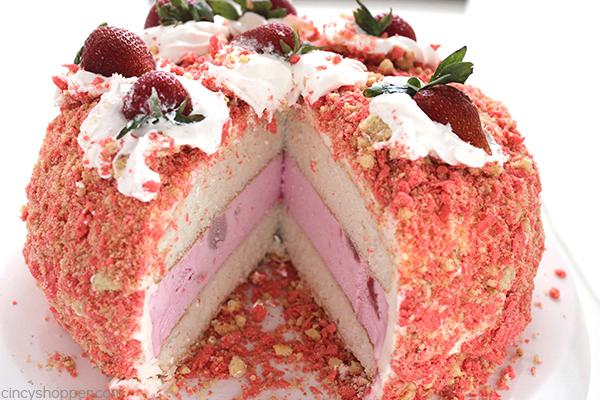 Strawberry Crunch Bar Ice Cream Cake Cincyshopper