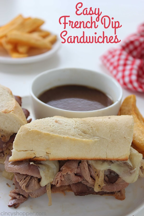 quick and easy dinner ideas, simple dinner ideas, french dip sandwiches