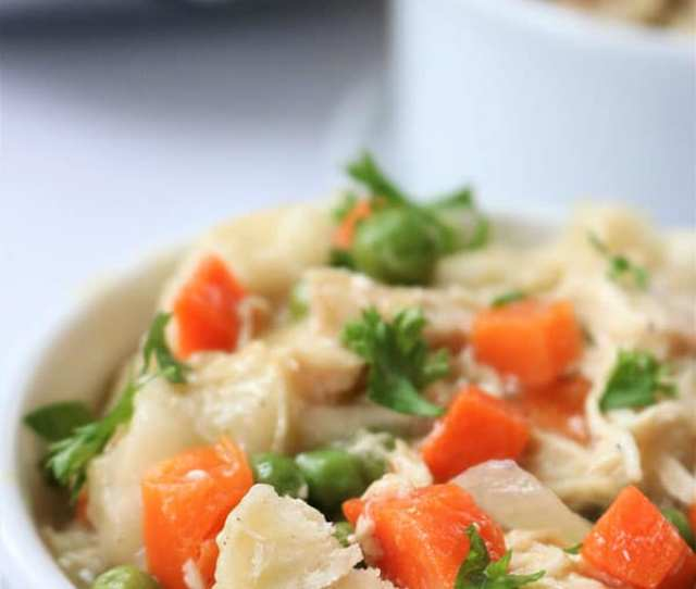 Slow Cooker Chicken And Dumplings So Easy To Make Right In Your Crock Pot