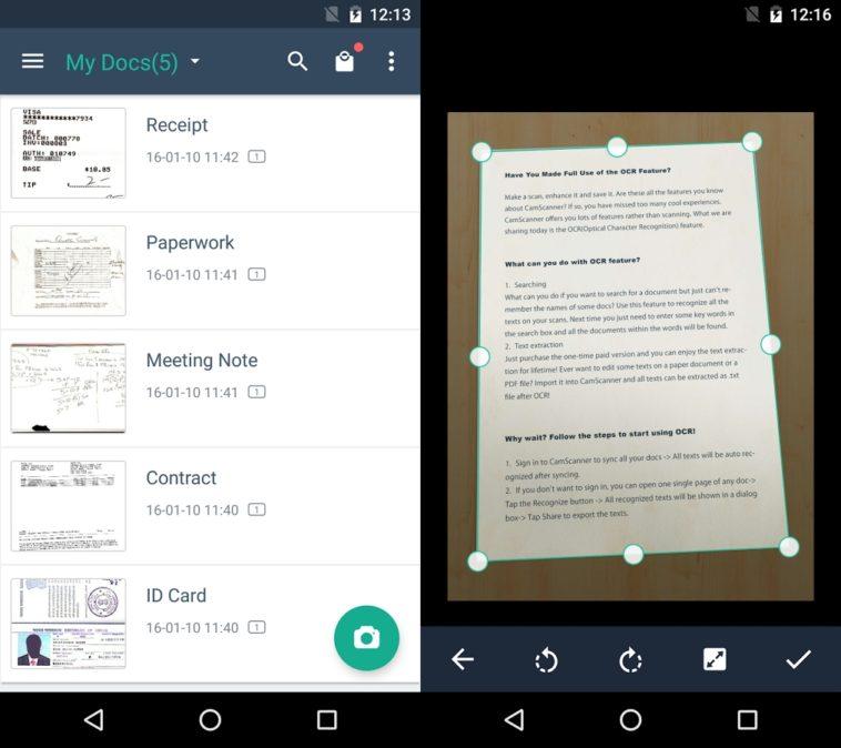Convierte tu móvil en un escáner